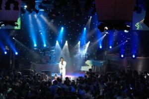 Foto van een Showlight show