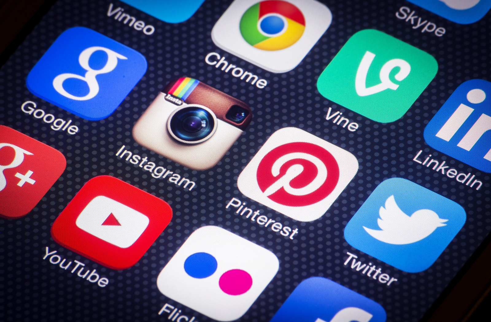 social media icons van showlight