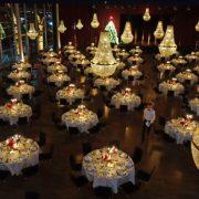 decoratie bedrijfsfeest huren met kroonluchters