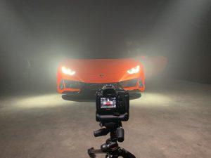 studio shoot Lamborghini Huracan evo spyder